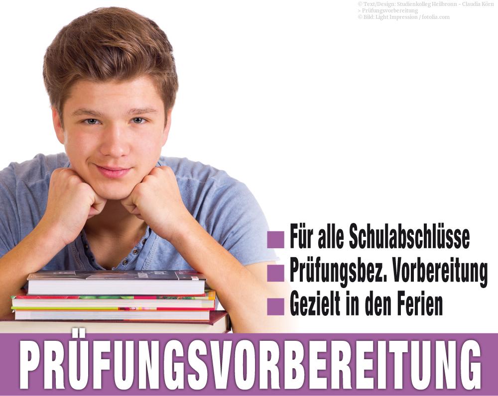 Prüfungsvorbereitungskurse in den Schulferien für alle Abschlüsse im Studienkolleg Heilbronn.