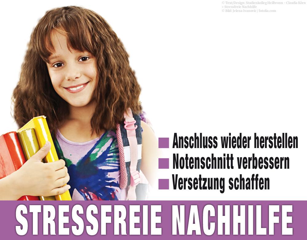 Stressfreier Nachhilfeunterricht für alle Schulen ab der dritten Klasse im Studienkolleg Heilbronn.