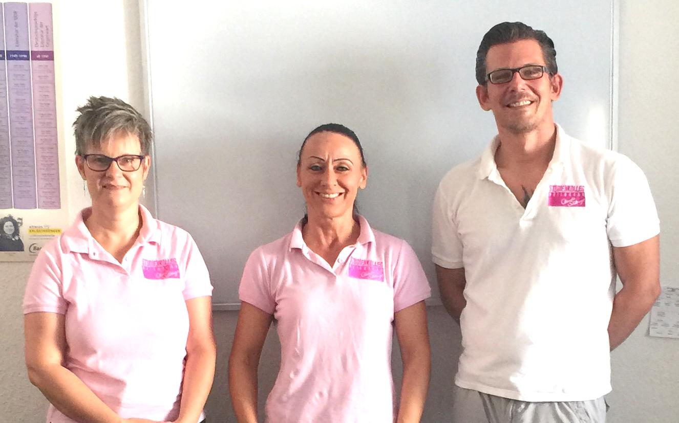 Das Team vom Studienkolleg Heilbronn: Frau Knorr (Oberstufe), Frau Körn (ab Klasse 5 bis 13), Herr Körn (Geschäftsführer und Lehrkraft ab Klasse 2 bis 4)